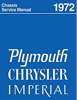 1972 PLYMOUTH FACTORY REPAIR SHOP & SERVICE MANUAL INCUDES: Road Runner, Grand Coupe,