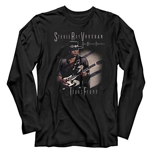 (American Classics Stevie Ray Vaughan Musician Texas Flood Too Adult Long Sleeve T-Shirt Tee)