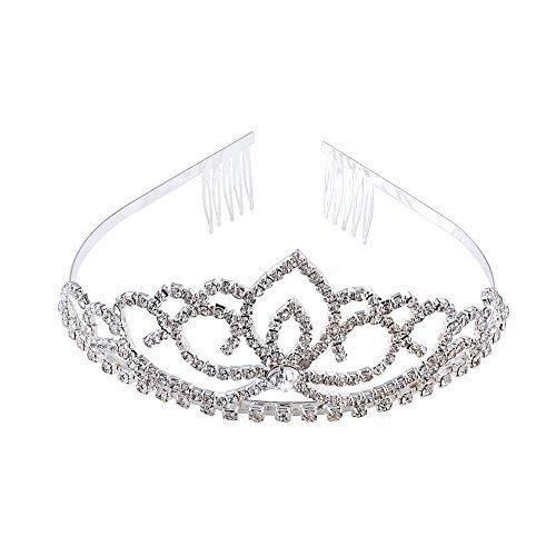 ABEILLO Elegant Wedding Bridal Crown Headband Tiara Charming Rhinestone Headpiece