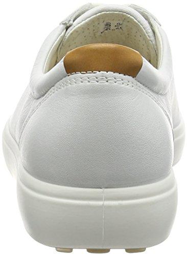 ECCO 4300030100 Zapatos con Cordones de Cuero para Mujer Blanco (WHITE1007)