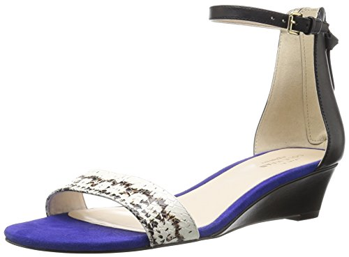 Adderly Haan Blue Women's Cole Wedge Print Storm Snake Sandal Black qHFdRE
