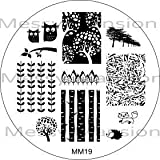 MESSY MANSION MM19 Nail Art Stamping Plate -