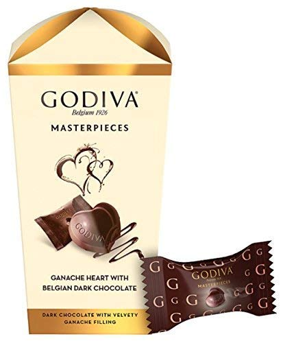 Godiva Masterpieces Ganache Heart with Belgian Dark Chocolate 193g