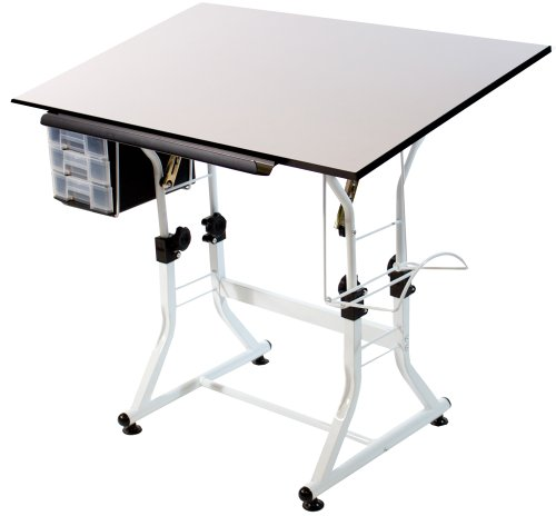 Martin Ashley Creative Table (without Stool) White Base with White Top -