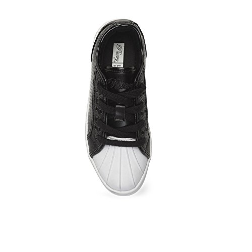Sneakers Moda Bambini Unisex Pasticceria - Lucida, Stile Praline Parigino, Bianco E Nero Nero / Bianco