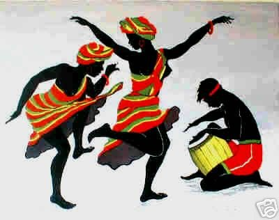 Ebony Art - African American Art Print - Ebony Dancers I Poster