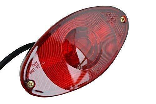 Oval BLACK Custom Stop Tail Rear Light for Motorbike Monkey Bike Trike Chopper Alchemy Parts & Accessories