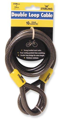 Sterling 122C - Cable de seguridad de bucle doble autoenroscable, 12 mm x 2.1 m