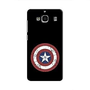 Cover It Up - Captain Shield Print Redmi 2 Prime Hard Case