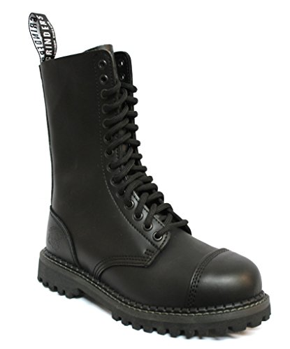 Grinders Herald 2015 Matte Finish Black Unisex Safety Steel Toe Cap Military Punk Boots 7 (Matte Black Military Cap)