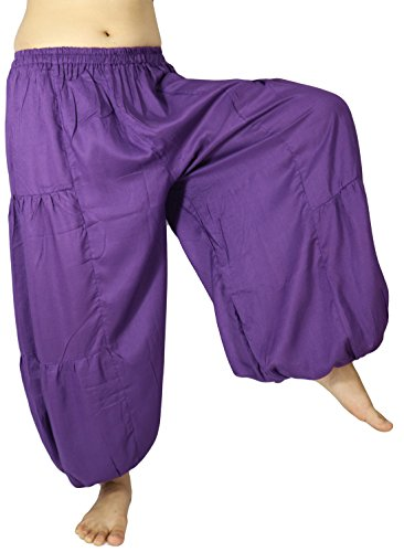 Lovely Creations's Men and Women's Plus size loose Harem Aladdin Yoga Elastic Waist Casual Pants Wild Leg and Waist 24-48