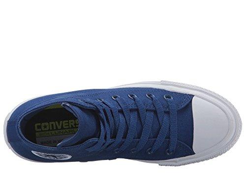 Converse Boys Chuck Taylor All Star II Kids High Top Trainers (4 Big Kid M, Sodalite Blue) Sodalite Blue