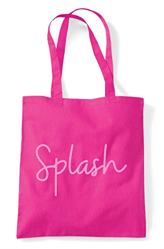 Fuschia Quote Bag Tote Statement Splash Hashtag Shopper 8YxgSUw