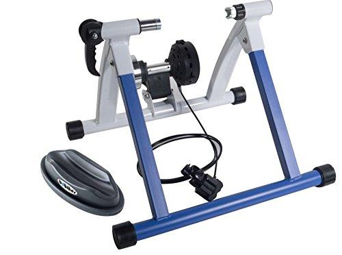 BDBikes Fahrrad-Heimtrainer Rollentrainer, magnetisch, Schnellspanner, Widerstand verstellbar