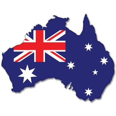 Australia map flag bumper sticker decal 5