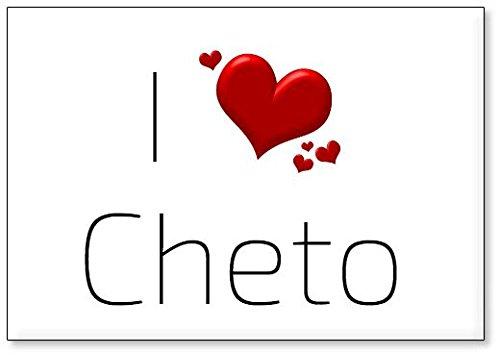 I Love Cheto, fridge magnet (design 3) from Mundus Souvenirs