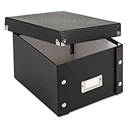 IDEASTREAM CONSUMER PRODUCTS SNS01647 Snap `N Store Collapsible Index Card File Box Holds 1,100 5 x 8 Cards, Black by Ideastream
