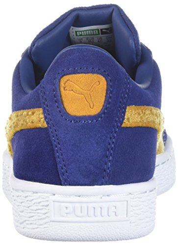PUMA Baby Suede Classic Terry Kids Sneaker, Blue Depths-Inca Gold, 9 M US Toddler