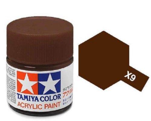 Tamiya Models X-9 Mini Acrylic Paint, Brown