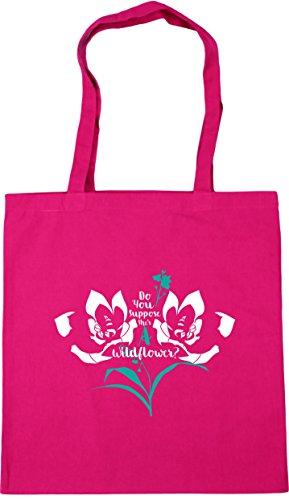 42cm Beach Tote a Fuchsia Bag litres x38cm she's suppose you flower Shopping HippoWarehouse Do Gym wild 10 nHwSvRS7q