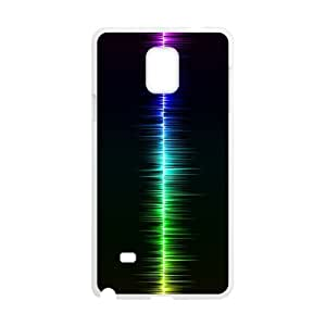 sound wave Samsung Galaxy Note 4 Cell Phone Case White 91INA91608208