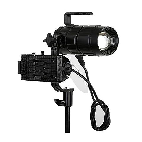 Link Star L-3 Mini Spot Light 30W Photography Light Adjustable Focus Length Fill Light 5600k - Quiet Electronic Low Voltage Dimmer
