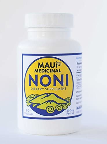Kona Noni 90-400mg Vcaps Certified Organic Whole Fruit