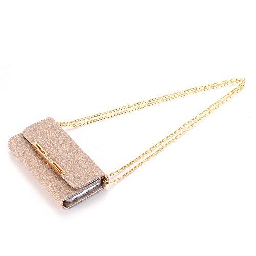 Multi 7 Holder Cards PU Flip Color Stylish iPhone iPhone Handbag Gold Wallet Girls Envelope Lady 7 Case Clutch Rose with Package Handbag Stand Leather Case Cover Design elecfan Women Orange WPqZwSFWg
