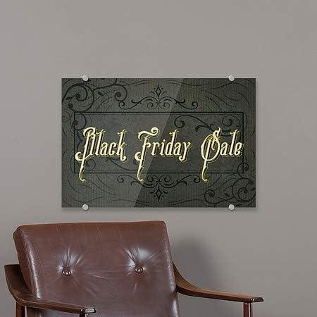 Black Friday Sale Classic Brown Premium Brushed Aluminum Sign CGSignLab 2467674/_5mbsw/_24x6/_None 24x6