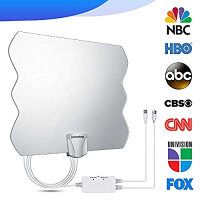 105 Miles Range HDTV Antenna, 2019 Newest TV Antenna, Indoor Amplified Digital HD Antenna Free Channels with High Definition Antenna Signal Booster, TV 4K 1080P Long Coax Cable - High Reception