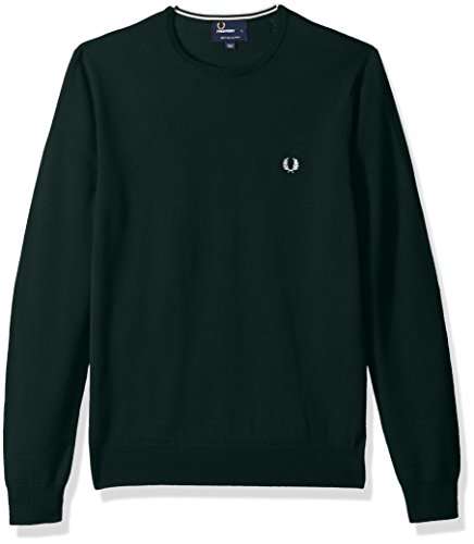 Fred Perry Men's Classic Crew-Neck Sweater, Brit Racing Grn Large ()