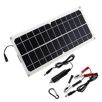 CCChaRLes Monocristalina Silicona Celda Solar Panel Doble ...