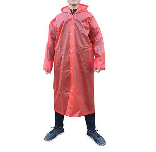 Adult Portable Rain Poncho Reusable Raincoat with Hoods Sleeves Unisex Rainwear
