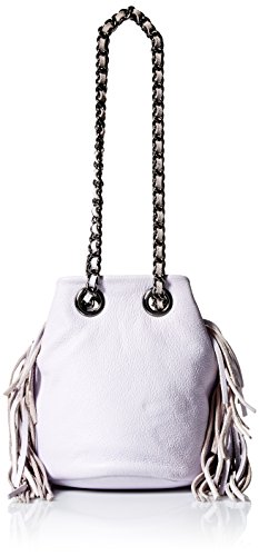 Rebecca Minkoff Fringe Bruni Bucket Bag, Pale Lilac, One - Pale Lilac
