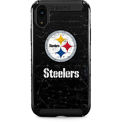 Skinit Pittsburgh Steelers Distressed iPhone XR Cargo Case - Officially Licensed NFL Phone Case - Durable Double Layer iPhone XR Cover with Enhanced Grip ()