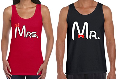 636ddc45fe83d1 Awkwardstyles Matching Couple Tanks Mr   Mrs Tank Tops Valentines Day Gift  R B