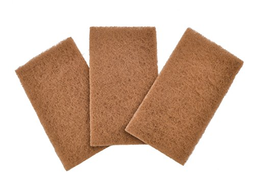 Full Circle Neat Nut Walnut Shell Scouring Pads, Non-Scratch, Set of 3