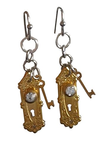 Alice in Wonderland Doorknob Dangle Earrings