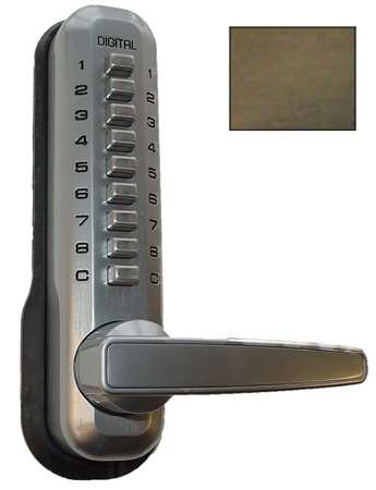 UPC 831469000016, Lockey 7055 Reversible Double Sided Mechanical Combination Leverset from the 700, Antique Brass