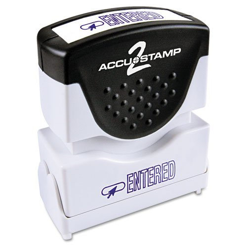 Accustamp One Color Message Stamp - Cosco ACCUSTAMP 2 Shutter Stamp Pre-Inked 1-Color Message Stamps with Microban Protection, Entered
