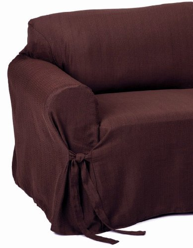 Jacquard Fabric Solid Brown Stripe Couch sofa Cover Slipcover