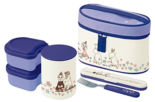 Ultra-lightweight warmth jar Lunch box 560ml Moomin flower garden KCLJC6 by Skater
