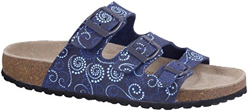 Softwaves Damen Pantolette Kork Navy Multi Gr 36 - 42 38 SiyyrLZD