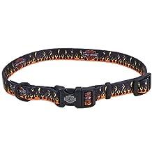 Harley Davison Stylish Dog Collar (Flames, 5'8) by Harley-Davidson