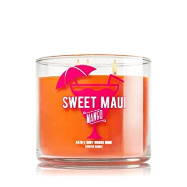 Bath & Body Works Scented 3 Wick Candle 14.5 Oz Sweet Maui Mango