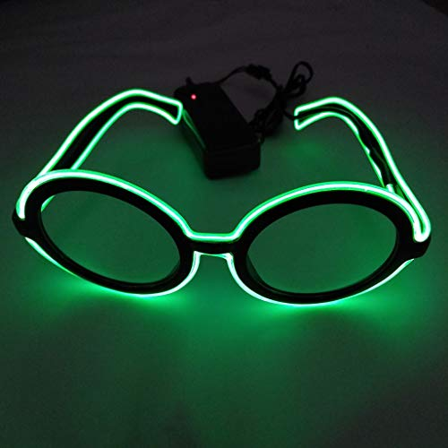 Glumes Glow in The Dark LED Glasses, 1 PCS Happy New Year Bulk Light Up Rave Glasses Halloween Neon Party Supplies Party Favors Shutter Shades Accessories and Costumes