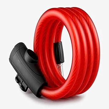 SSGFZ - Candado antirrobo para bicicleta, bloqueo de cadena, antirrobo para bicicleta de montaña, candado de cadena de alambre de acero, accesorios de equipo de equitación, rojo: Amazon.es: Bricolaje y herramientas