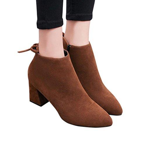 TPulling Herbst Und Winter Schuhe Mode Damen Gefolgt Von Schnürstiefelette Martin High Heels Khaki