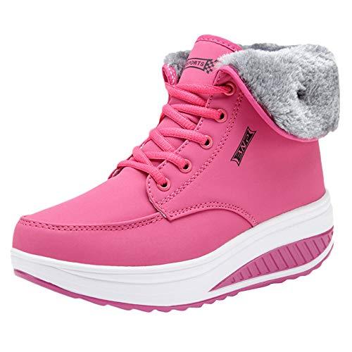 Todaies Women Leisure Plus Velvet Bottom Sport Shoe Wedges Thick Bottom Ladies Sneakers