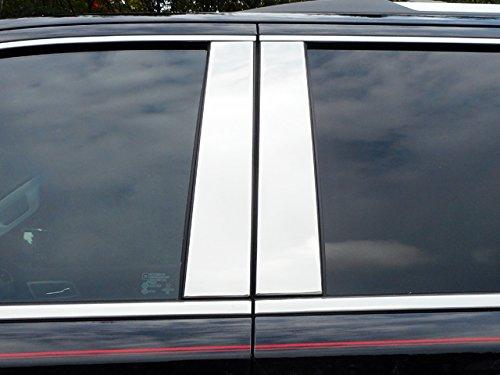 (QAA FITS Suburban 2015-2019 Chevrolet (4 Pc: Stainless Steel Pillar Post Trim Kit, 4-Door, SUV) PP55195)